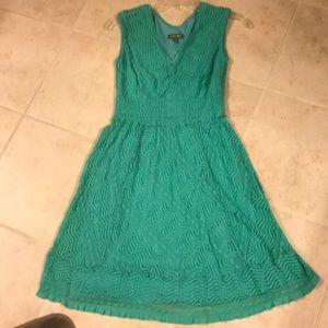 Teal spring or summer dress
